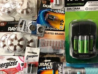 Batteries   Assorted Hearing Aid and Camera Batteries