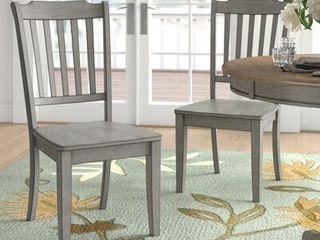 lexington Slat Back Dining Chair  Set of 2  Antique Grey