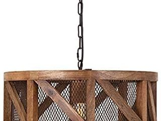 IMAX Kennedy Wood and Wire Pendant light