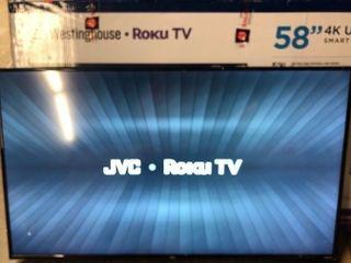 JVC 55  Class 4K Roku Smart lED TV UHD 2160p HDR  lT 55MAW595