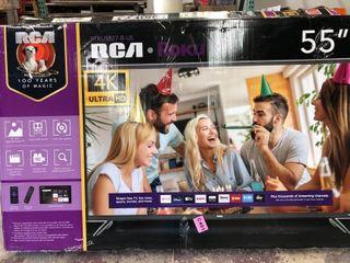 RCA 55  Class 4K Ultra HD  2160P  HDR Roku Smart lED TV  RTRU5527 W