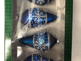 Glass Christmas Ornaments   4 Pack
