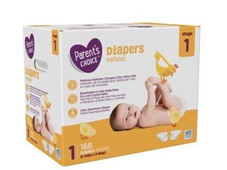 Parent s Choice Diapers  Size 1  96 Diapers