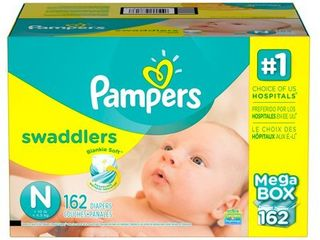 Pampers Swaddlers Diapers  Size N  150 ct