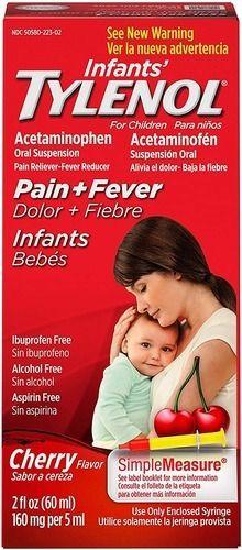 Infant Tylenol Pain Reliever Cherry 2 fl oz