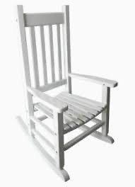 Garden Treasures White 31 97in Kid s Rocking Chair 110lb Weight limit