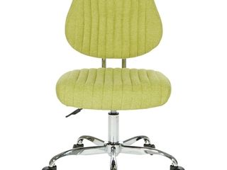 OSP Home Furnishings Sunnydale Office Chair in Basil Fabric with Chrome Base