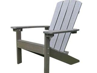 lakeside Faux Wood Adirondack Chair   Espresso
