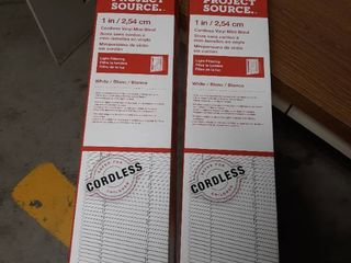 lot of 2  Project Source Cordless Vinyl Mini Blinds 71 by 64 inch