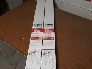 lot of 2  Cordless Vinyl MiniHlinds 48 by 64 inch