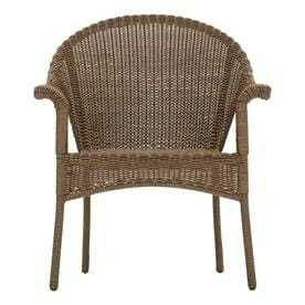Garden Treasures Valleydale Stackable Steel Conversation Chair with Woven Seat