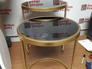 Black and Gold Nesting Side Tables