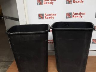 lot of 2 Rubbermaid Office Trash Cans Used