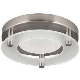 Progress lighting 7 24 in W Brushed nickel lED Flush Mount light ENERGY STAR