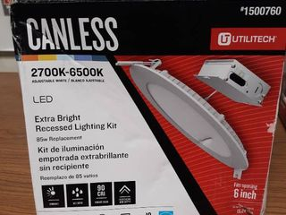 Utilitech Canless High Output Color Choice 75 watt 2700k  6500l Adjustable can light
