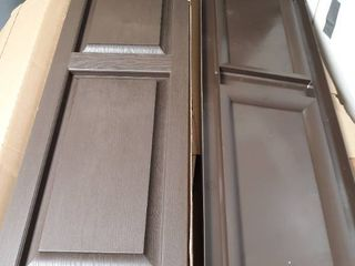 lot of 2 Raised Panel Brown Window Shutters 14 5 by 51 inch