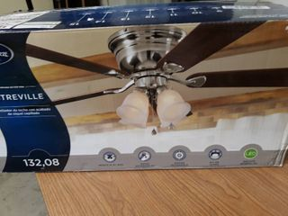 Harbor Breeze Centreville Brushed Nickel led Indoor Flush Mount Ceiling Fan
