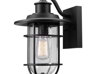 Globe Electric Turner 1 light Outdoor Indoor Seeded Glass Shade Wall Sconce light  44094