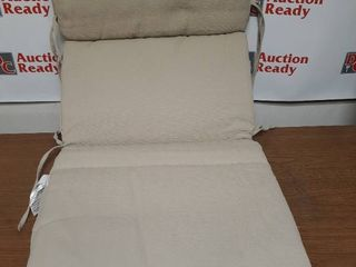 Suntastic O Top Beige linen Indoor  Outdoor High Back Chair Cushion