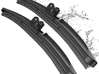 METO T6 Silicone Windshield Wiper Blades  28 and 16 inches  set of 2