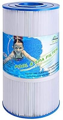 TOREAD Pool Filter Replaces Pleatco PA90  CX900RE  C900  Unicel C 8409  Filbur FC 1292  Posi Clear Sta Rite PXC95  Clearwater II ProClean 100  Aladdin 19002  25230 0095S  90 sq ft Cartridge  1 Pack