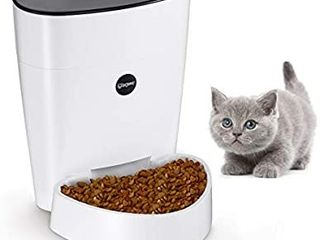 isYoung Automatic Cat Feeder  4l Smart Pet Feeder for Cat   Dog   6 Meal  lCD Display with Timer Programmable  Portion Control   Battery Plug in Power