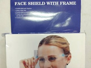 Face Shield Kit includes 10 eyewear frames and 10 face shields  The Anti Fog Face Shields mount to the included eyewear frames