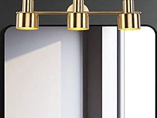 YHTlaeh 2020 New Bathroom Vanity light Fixtures Brushed Brass Metal Shade 3 lights Modern Wall Bar Sconce Over Mirror  Exclude Bulb