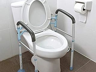OasisSpace Stand Alone Toilet Safety Rail   Heavy Duty Medical Toilet Safety Frame for Elderly