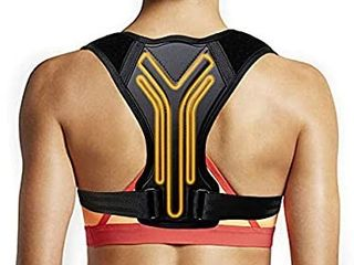 Posture Corrector for Women Men  SAYGOGO Adjustable Upper Back Support Brace  Back Straightener Posture Brace  Under Clothes Posture Support  Size l 37   43