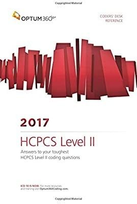 Coders Desk Reference for HCPCS level II 2017 2017th Edition ISBN 13  978 1622542055  ISBN 10  1622542053