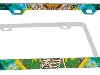 Have a Grateful Day license Plate Frame  Grateful Dead Dancing Bears and Terrapin Decorative license Plate Holder