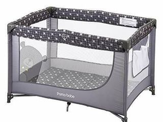 Pamo babe Comfortable Playard Sturdy Play Yard with Mattress