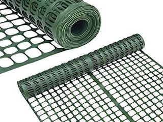 Abba Patio Snow Fence 2  X 50  Feet Plastic Safety Fence Roll Temporary Poultry Fencing Mesh