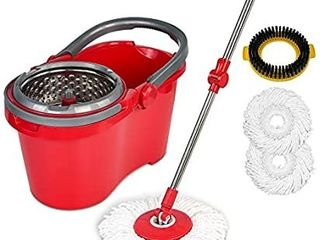 HAPINNEX Spin Mop Wringer Bucket Set   for Home Kitchen Floor Cleaning