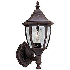 Builder 14 1 4  High Bottom Mount Gold Outdoor Wall light Set