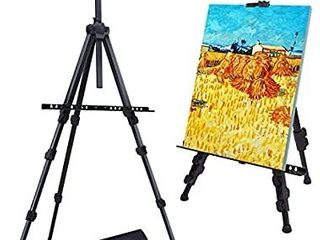 Easel Stand  Ohuhu 72  Artist Easels for Display  Aluminum Metal Tripod Field Easel with Bag