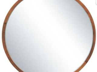 Mirrorize Canada IMP6764CT 30 in  D Round Mirror  Walnut