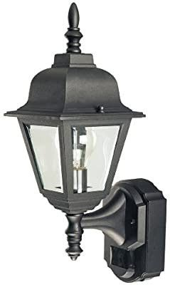Heath Zenith Sl 4191 BK 180 Degree Motion Activated Country Cottage Decorative lantern  Black