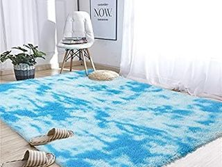Noahas Abstract Shaggy Rug for Bedroom Ultra Soft Fluffy Carpets for Kids Nursery Teens Room Girls Boys Thick Accent Rug