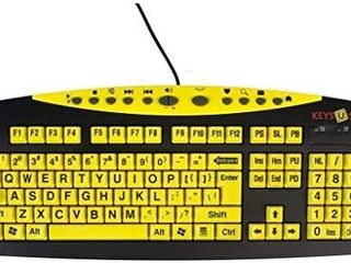 AbleNet Keys U See large Print US English USB Wired Yellow Keyboard