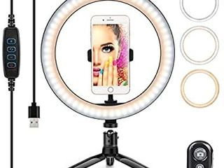 Ring light 10  with Stand   Phone Holder