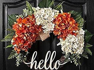 QUNWREATH 18 Inch Fall Wreath Hydrangea Wreath Wreath for Front Door