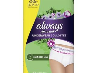 Always Discreet Incontinence Underwear   Maximum Absorbency   l   28ct