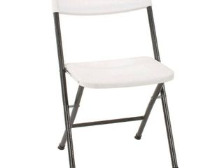 Cosco Resin  4 Pack  Folding Chair with Molded Seat  White with Gray Metal