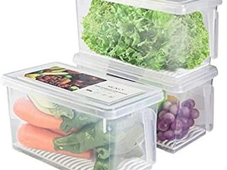 Produce Saver Refrigerator Organizer Bins for Fridge