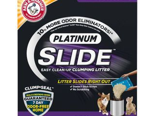 Arm   Hammer Platinum SlIDE Easy Clean Up Clumping Cat litter  Multi Cat  37 lbs