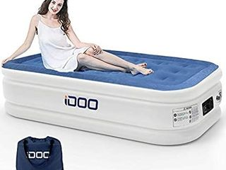 iDOO Twin Air Mattress  Blue White