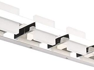 SOlFART Modern 4 lights lED Vanity lights for Bathroom Wall light Fixture Over Mirror 3 pack