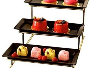 3 Tier Serving Stand   Collapsible Sturdier Rack   Dessert Stand and Buffet Server   Party Plates  Trays and Platters   Tiered Trays for Fruits  Appetizers and Cupcakes